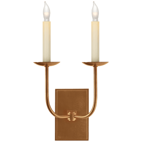 TT Double Sconce in Hand-Rubbed Antique Brass