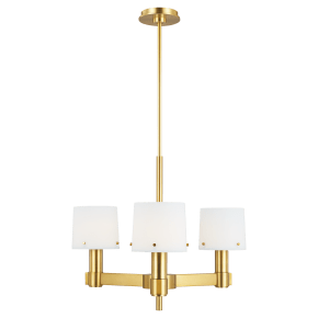 Palma Small Chandelier Burnished Brass