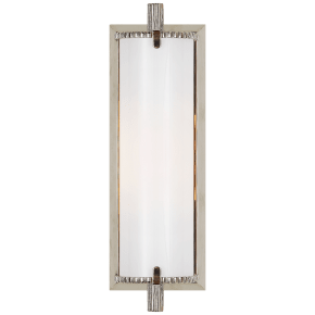 Calliope Short Bath Light in Polished Nickel with White Glass