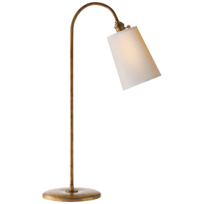 Mia Table Lamp in Gilded Iron with Natural Paper Shade