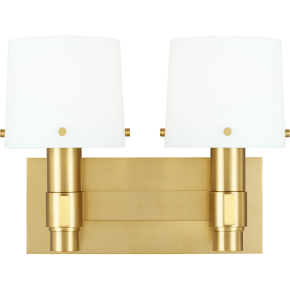 Palma 2 - Light Vanity Burnished Brass