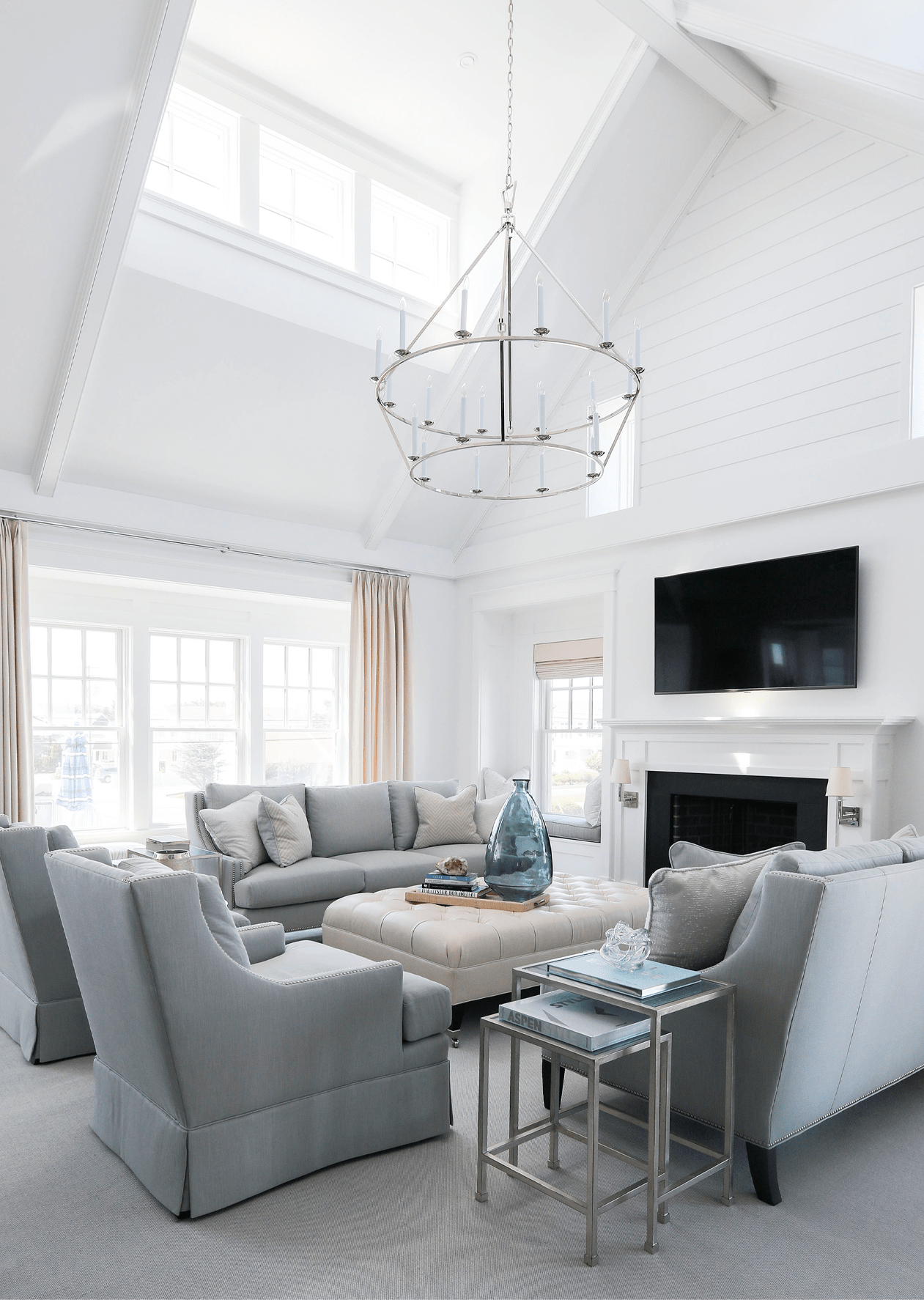 Darlana Extra Large Two-Tier Chandelier by Chapman & Myers / Photography by Rachel McGinn