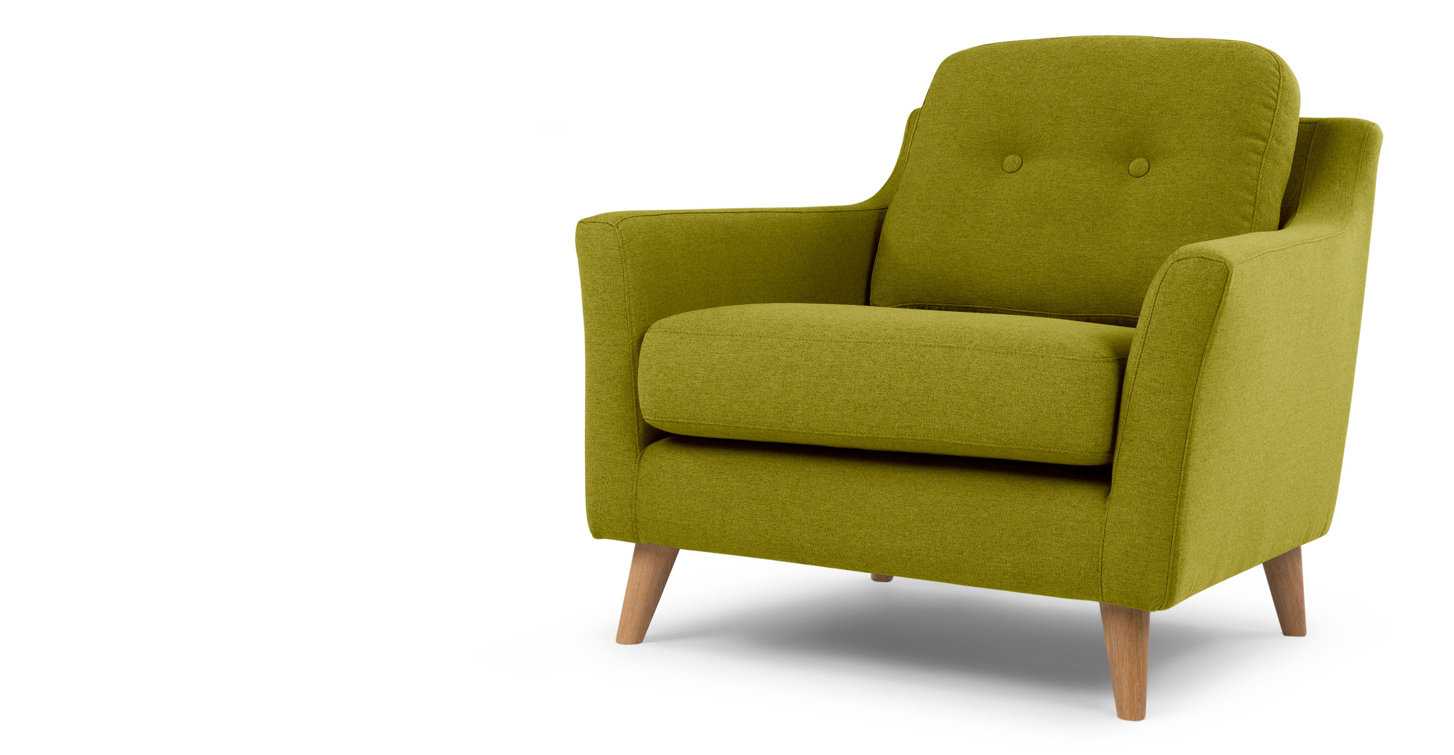 Rufus Armchair, Leaf Green | made.com