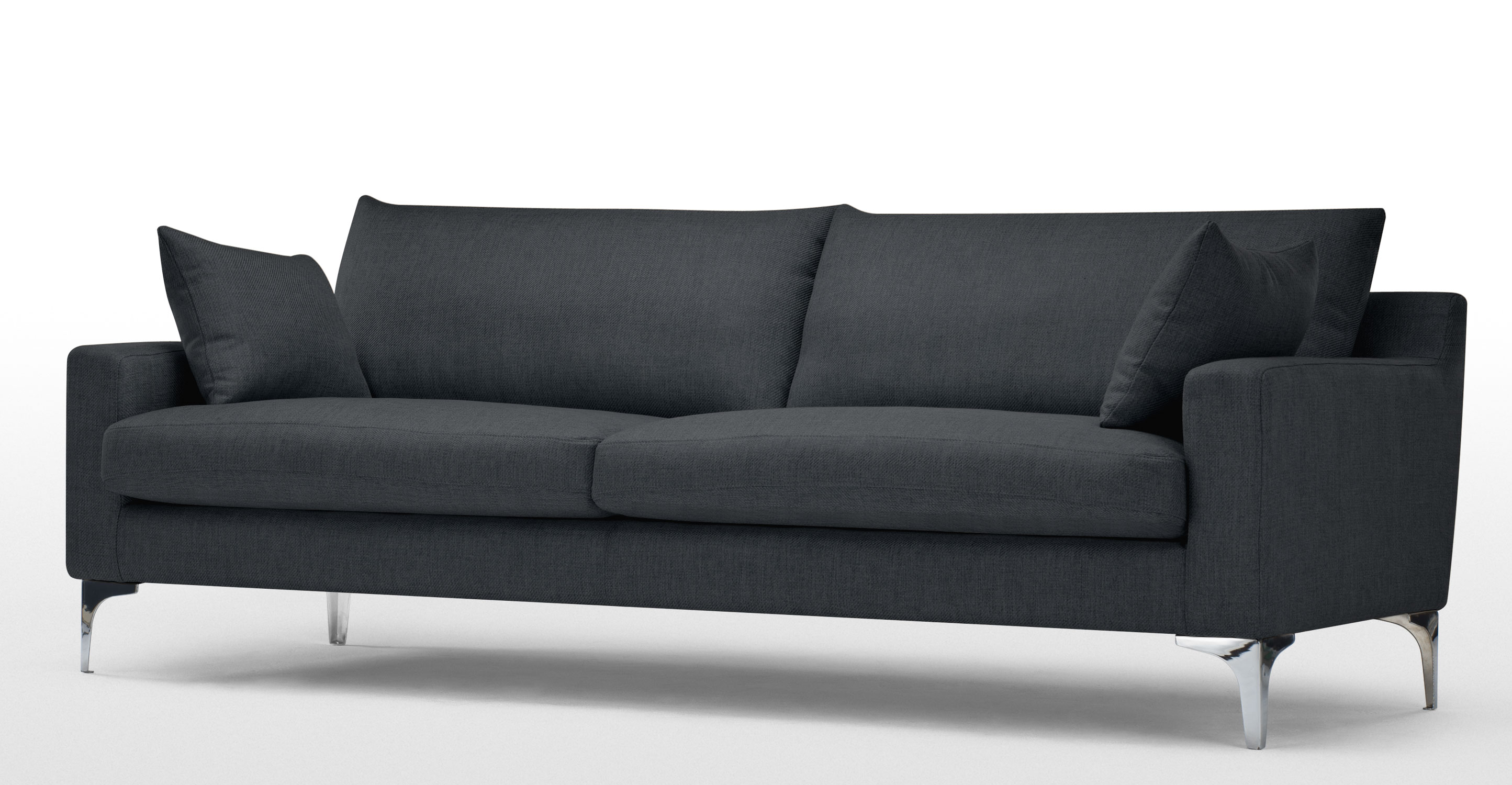 mendini 3 sitzer sofa in anthrazit. Black Bedroom Furniture Sets. Home Design Ideas