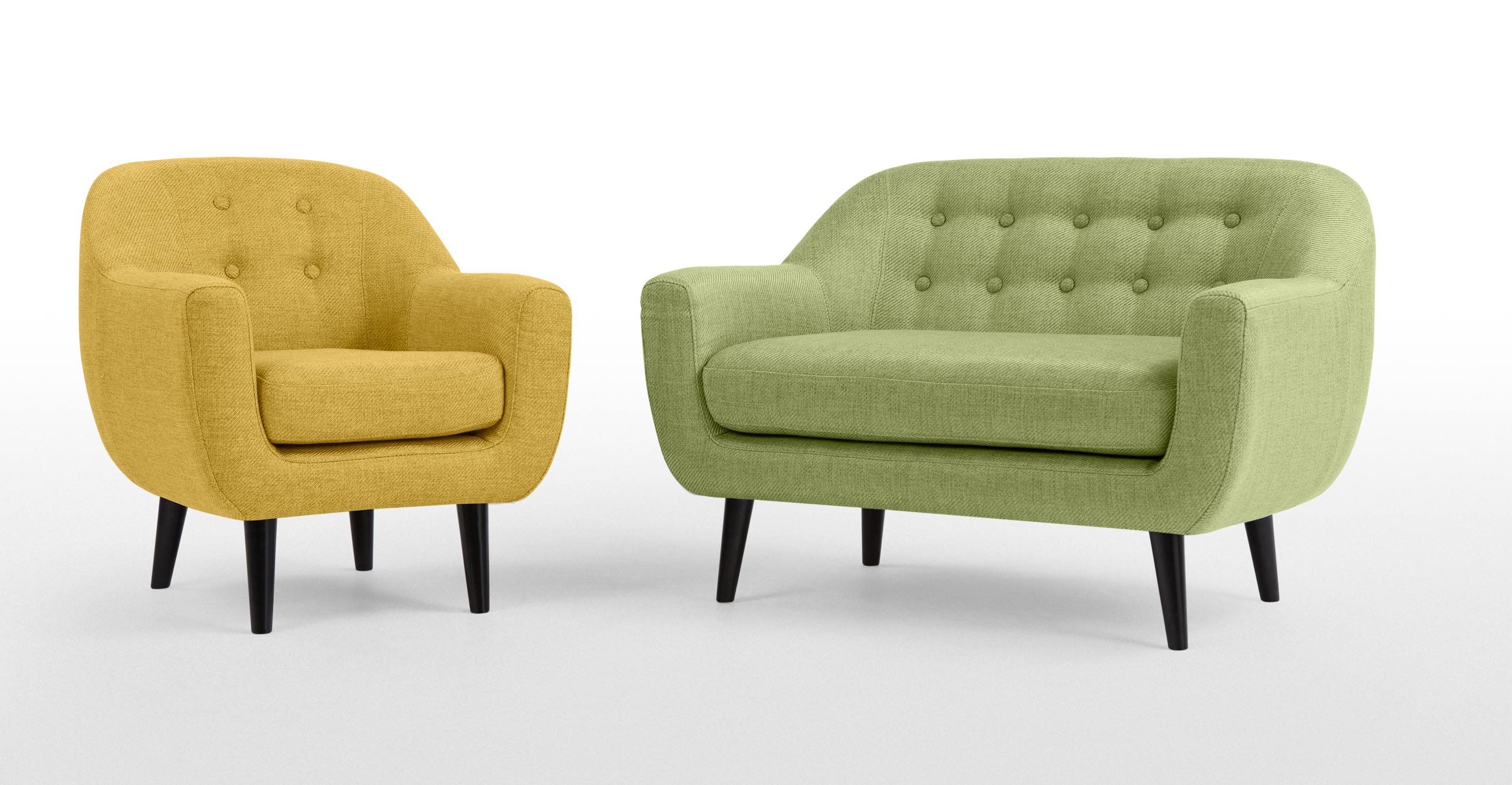 Mini Ritchie 2 Seater Sofa Lime Green Made Com