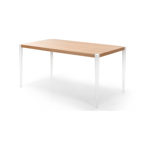 Joseph Dining Table In Oak And White Made Com