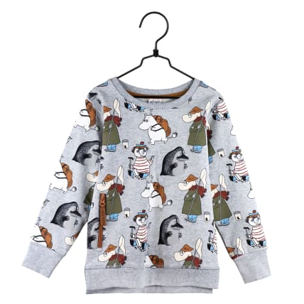 Moomin Yikes Sweatshirt grey melange