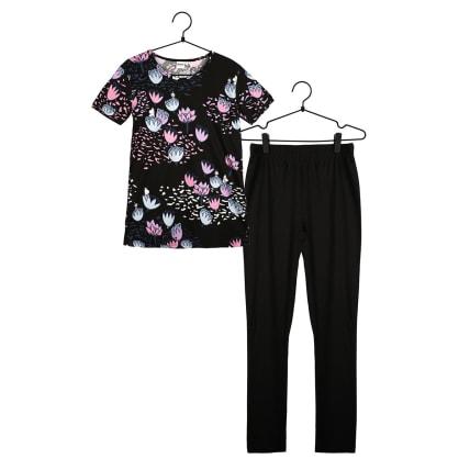 Moomin Pond-Lily Pyjamas Short-sleeve black