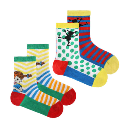 Pippi Longstocking Happy Pippi Socks 2-pack
