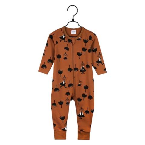 Muumi Tulppaanit-pyjama kaneli