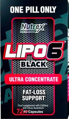 Lipo6Black - nutrex versão Canadá ( 72caps )
