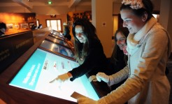 Students use RFID interactive technology in Designing Democracy, 2010. Photographer Marina Neil, Canberra Times.