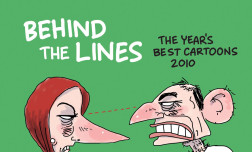 The poster for the Behind the Lines exhibition.