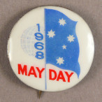 1968 may day badge