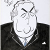 John Frith, caricature of Robert Menzies, date unknown, unpublished.