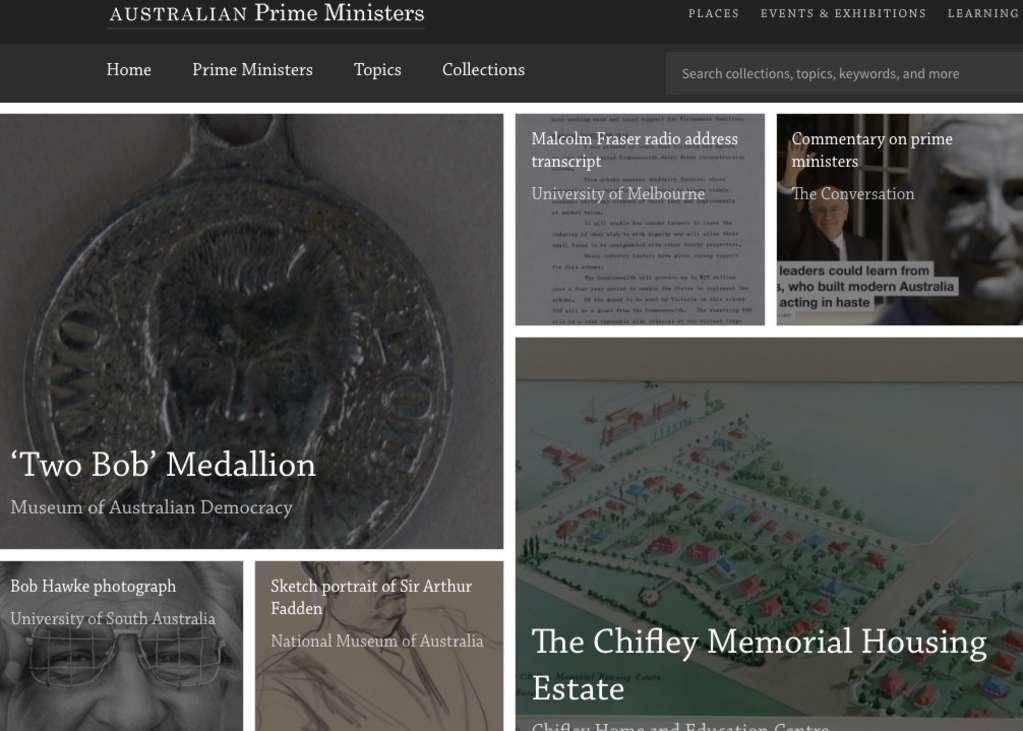 Australia's Prime Ministers: website · Museum of Australian