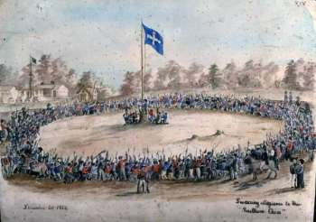 Charles Doudiet, Swearing Allegiance to the Southern Cross