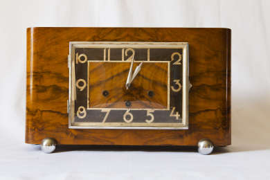 A commemorative clock presented to Prime Minister Joe Lyons at the opening of a new General Motors-Holden production facility at Fishermans Bend in Melbourne on the 5th November 1936.
