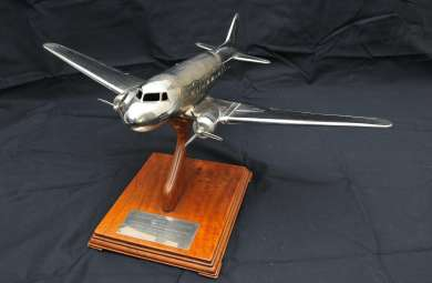 DC3 Model Airplane presented to Prime Minister Ben Chifley on the occasion of the opening of Bathurst airstrip as a civilian aerodrome, 1946