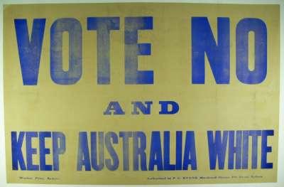 Keep Australia White poster