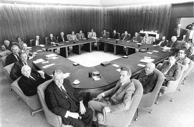 The large table made for Gough Whitlam's Cabinet.