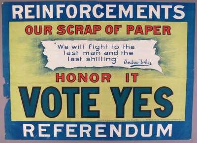 'Vote Yes' referendum poster