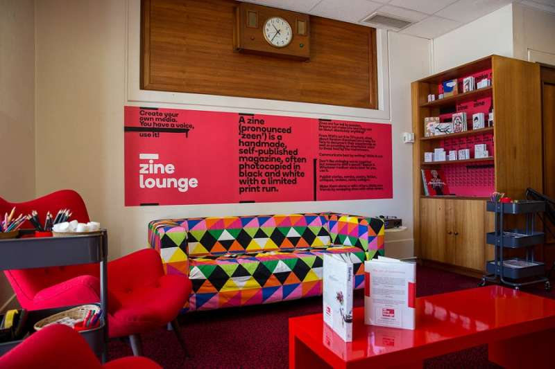 The new-look Zine lounge at Old Parliament House