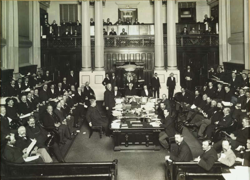 Mr. Kingston introducing the first Commonwealth Tariff in Melbourne