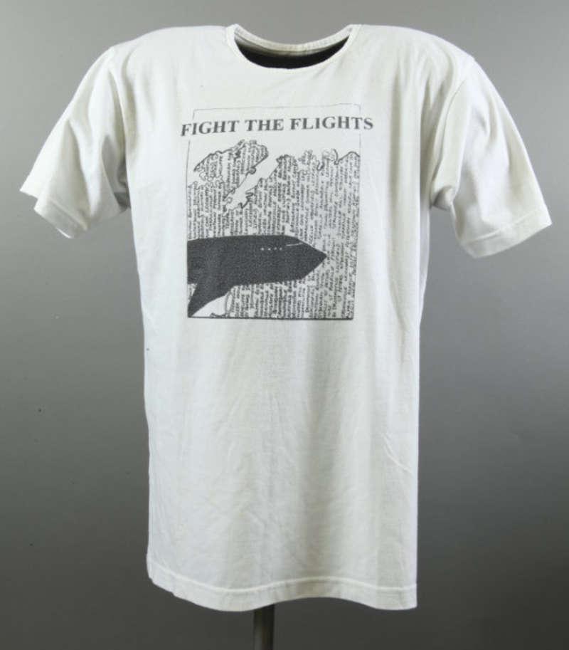 Ann Picot's 'Fight the Flights' t-shirt