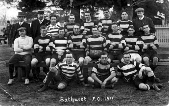 Bathurst Football Club rugby union team, including future prime minister of Australia J. B. Chifley.