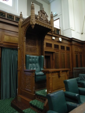 The Speaker's Chair in the House of Representatives.