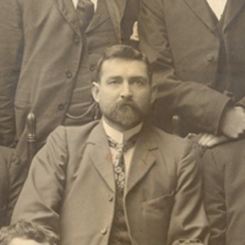 Chris Watson (centre) and the first Labour caucus, 1901. Museum of Australian Democracy collection