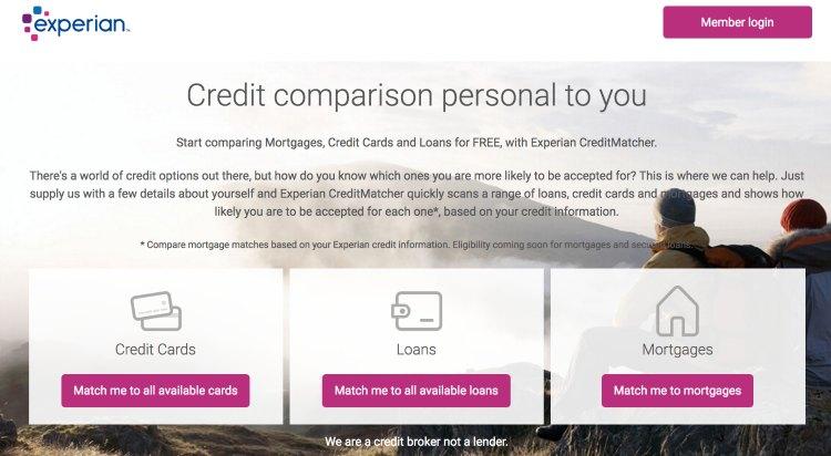 Experian credit matcher