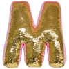 Picture of M Initial Reversible Sequin Pillow
