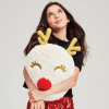 Picture of Red-Nosed Reindeer Furry Pillow