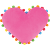 Picture of Lovestruck Pom Pom Embroidered Pillow