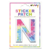 Picture of N Initial Tie Dye Sticker Patch