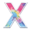 Picture of X Initial Tie Dye Sticker Patch