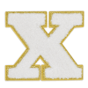 Picture of X Initial Varsity Sticker Patch
