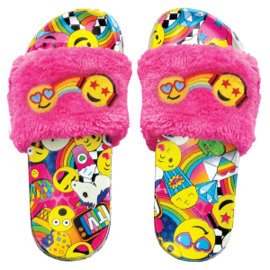 Emoji Party Fur Slides