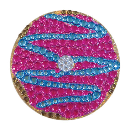 Picture of Blue and Pink Donut Rhinestone Decal