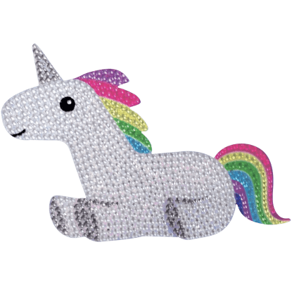 Picture of Rainbow Unicorn Rhinestone Decals