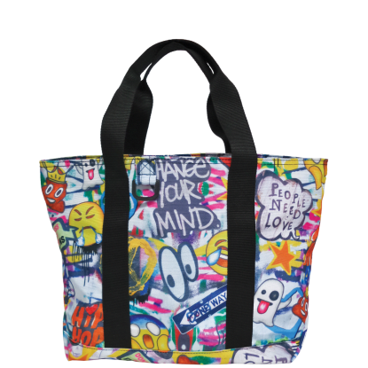 Picture of Emoji Graffiti Tote Bag