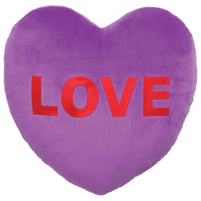 Picture of Love Heart Embroidered Pillow