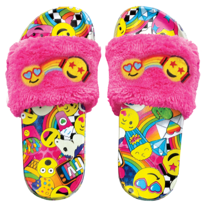 Picture of Emoji Party Fur Slides