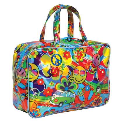 Picture of Hippie Love Holographic Large Cosmetic Bag