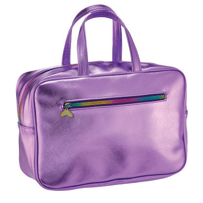 Picture of Purple Metallic Large Cosmetic Bag