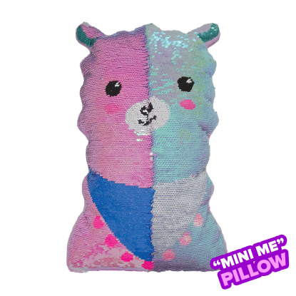 Picture of Mini Llama Reversible Sequin Pillow
