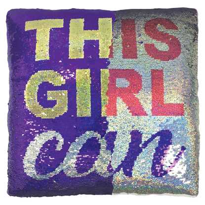 Picture of This Girl Can Reversible Sequin Pillow