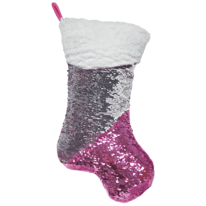 Picture of Pink Stocking Reversible Sequin Pillow
